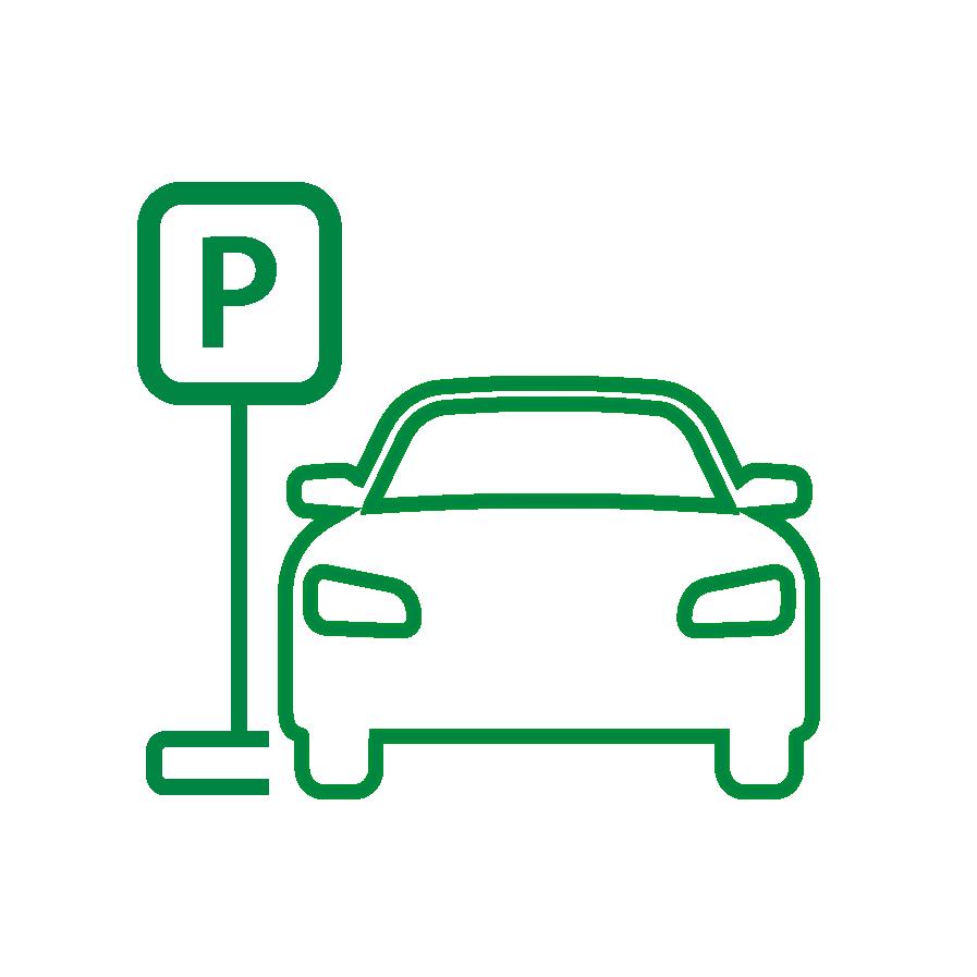 Kostenfreie, reservierte Mitarbeiterparkplätze