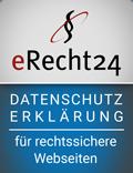 eRecht24 Service-Siegel Datenschutzerklärung